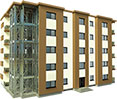Bâtiments à plusieurs niveaux à ossature métallique