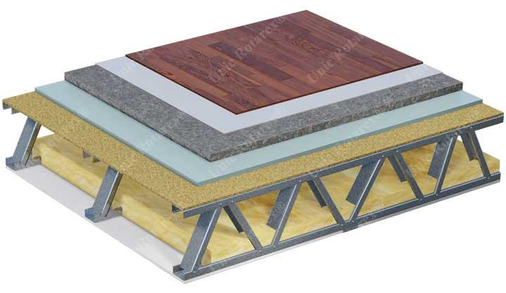Section de plancher por les maisons métalliques